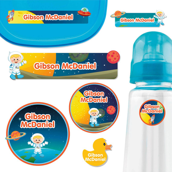 Astronaut Baby Label Pack