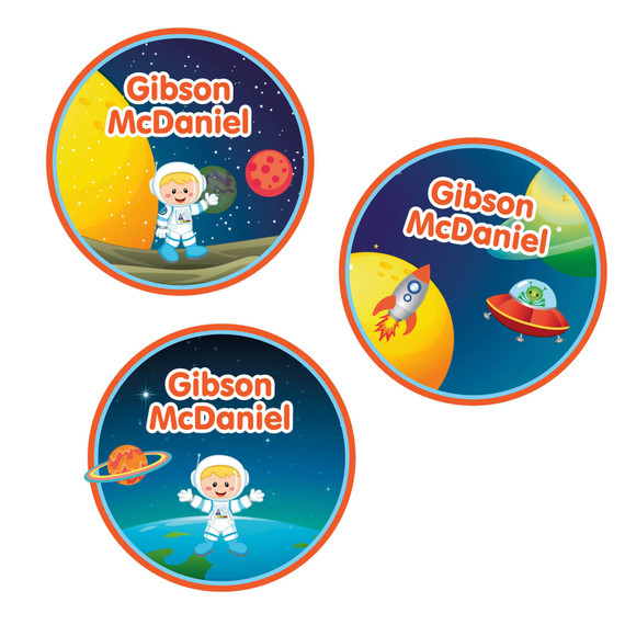 Astronaut Large Name Stickers