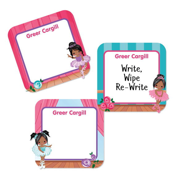 Small Square Write-On Name Labels