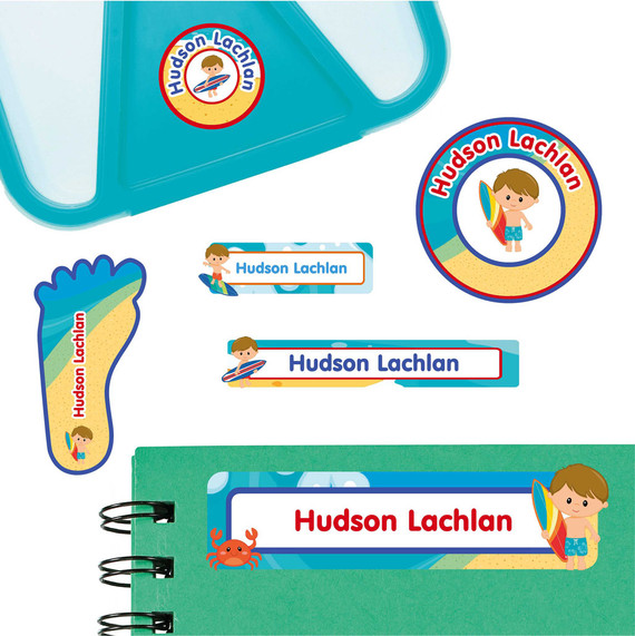 Beach Fun Labels for Preschool and Daycare