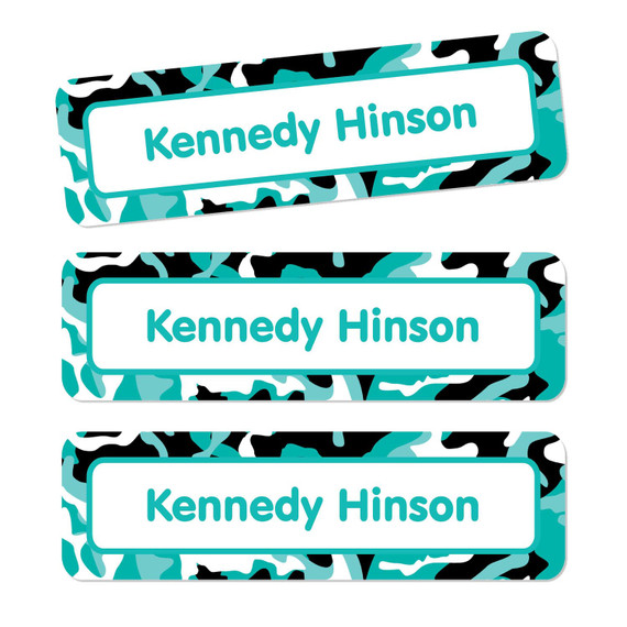Camo Oversize Rectangle Labels
