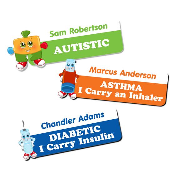 Medical Alert Stickers for Children