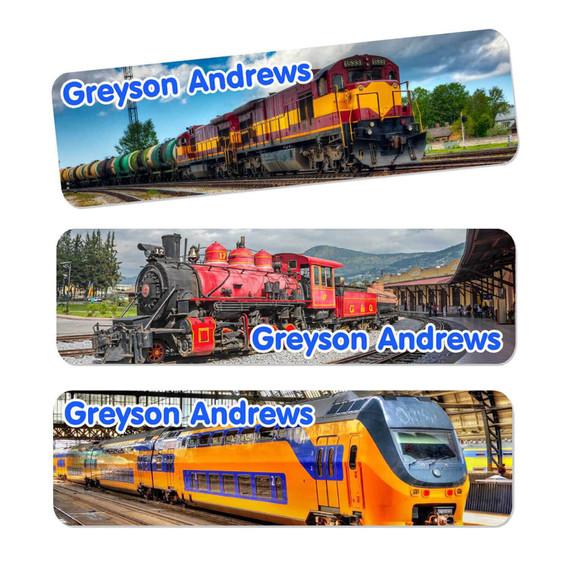 Trains Oversize Rectangle Labels