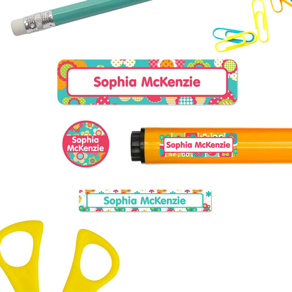 School Supply Name Labels and Stickers