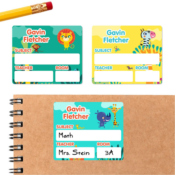 School Subject Labels for Notebooks and Binders