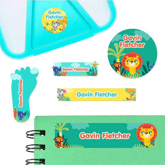African Safari Labels for Preschool and Daycare