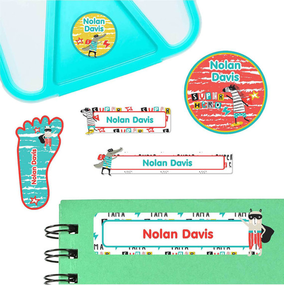 Animal SuperHeroes Labels for Preschool and Daycare