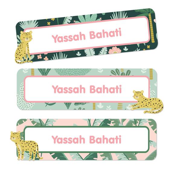 Leopard Waterproof Name Labels
