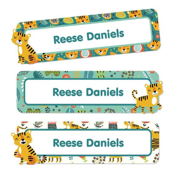 Tiger Large Name Labels