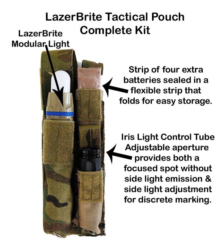 LazerBrite Tactical Pouch Complete - Kit
