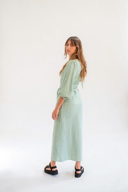 Natalie Bias Dress - Sea Foam