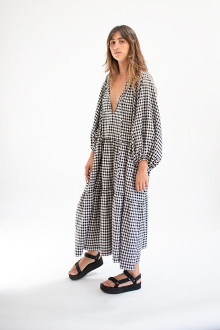 Tilly Maxi - BW Gingham