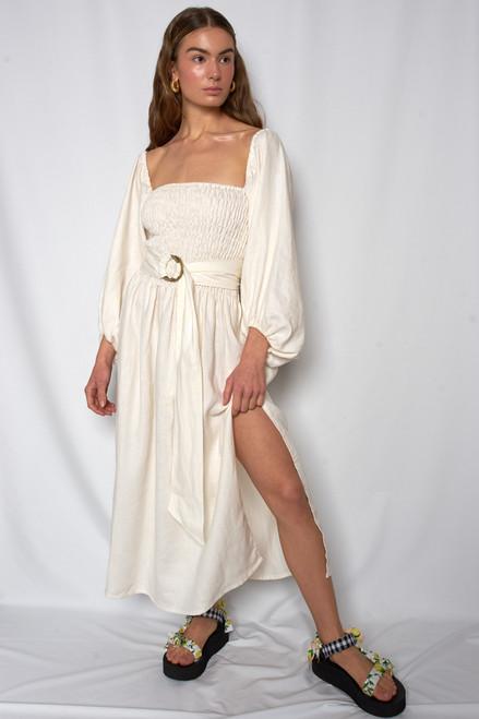 Ballerina Dress - Cream Linen