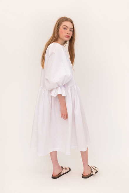 Tilly Maxi 2.0 - White Poplin