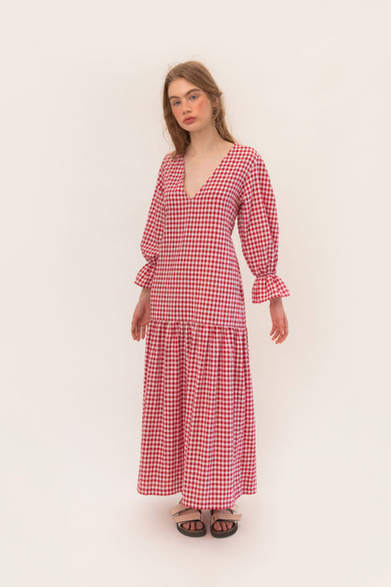 Dylan Maxi - Red Gingham