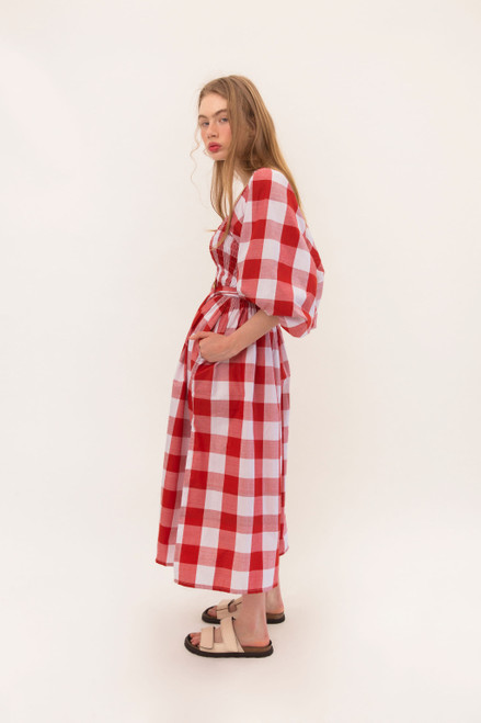 Ballerina Dress - Red Checks
