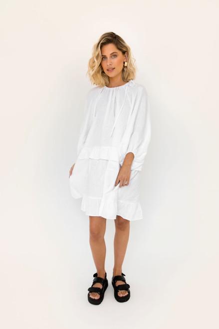 Lola Mini - White Linen