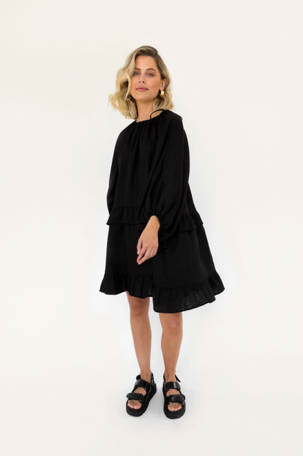 Lola Mini - Black Linen