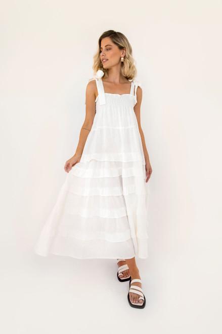 Bae Maxi - White Linen