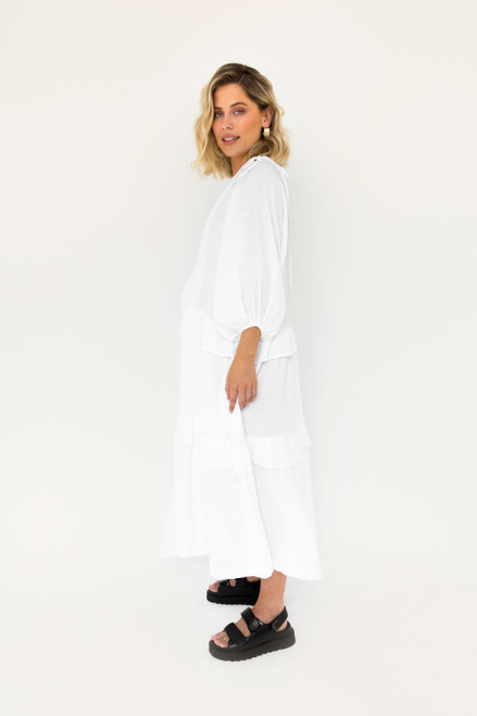 Lola Maxi - White Cotton