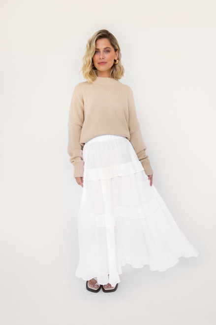 Bae Skirt - White Cotton