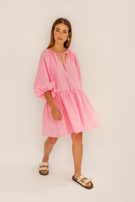Tilly Mini - Pink Gingham