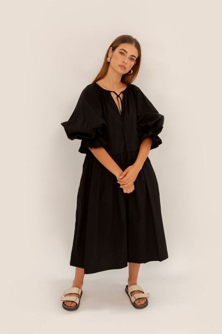 Tilly Maxi 2.0 - Black Poplin