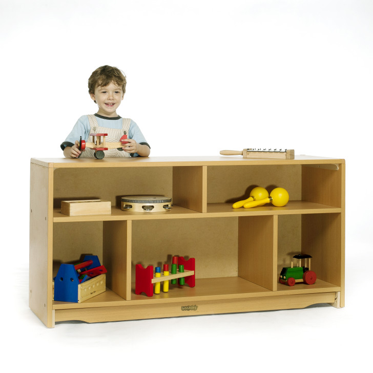 Closed Back Shelf with dividers 4' x 24""