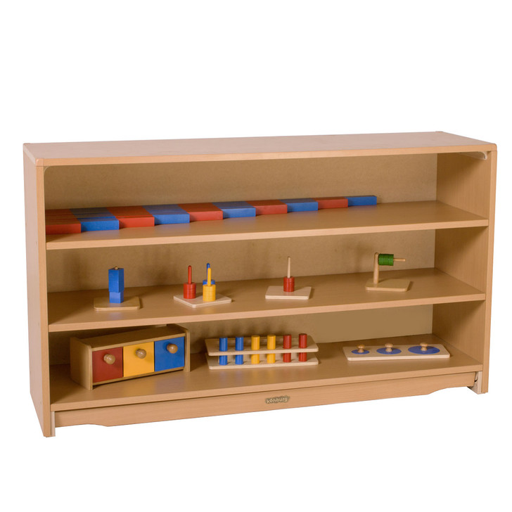 "Closed Back Shelf 4' x 28"" with Two Shelves"