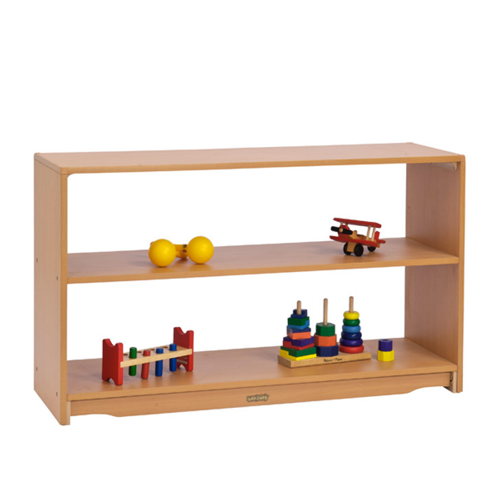 """Open Back Shelf 4' x 28"""" with One Shelves"""