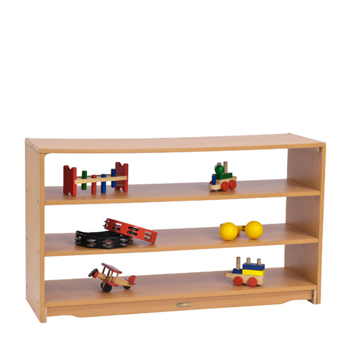 "Open Back Shelf 4' x 28"" with Two Shelves"