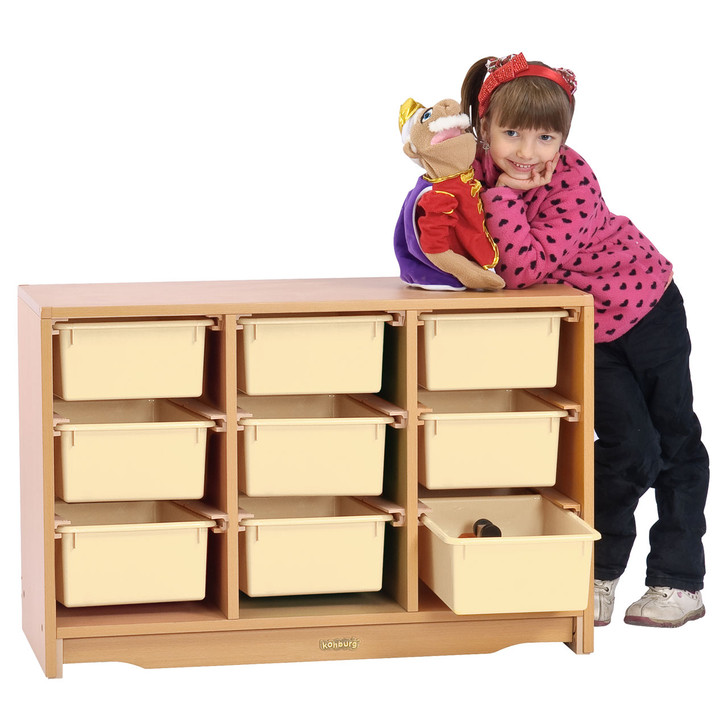"Tote Shelf 3' x 24"" w/ Totes(Pre-sale product)"
