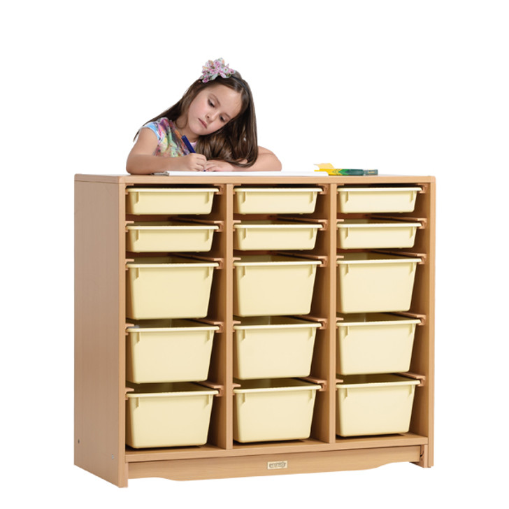 "Tote Shelf 3' x 32"" w/ Totes(Pre-sale product)"