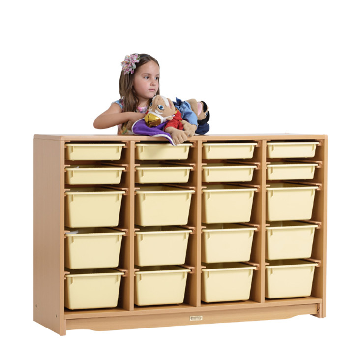 "Tote Shelf 4' x 32"" w/ Totes"