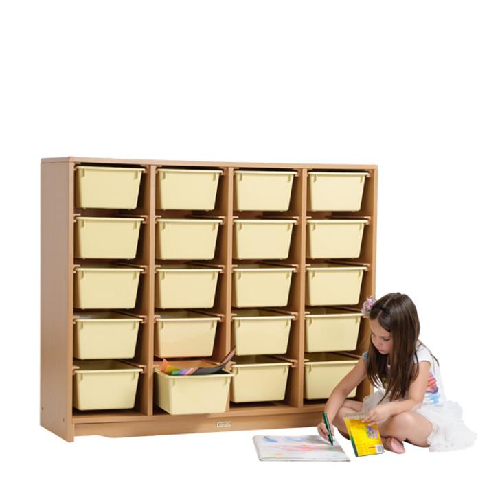 "Tote Shelf 4' x 40"" w/ Totes(Pre-sale product)"
