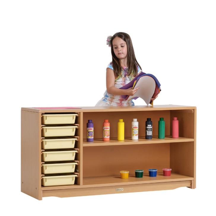 """Multi-Storage Shelf 4' x 24"""" w/ Totes"""