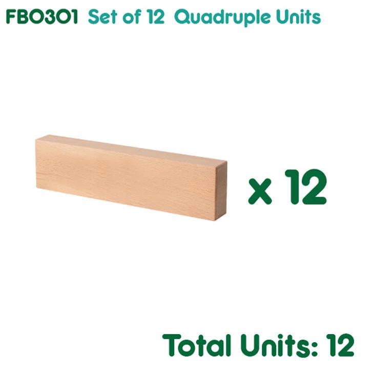 Set of 12 Quadruple Units