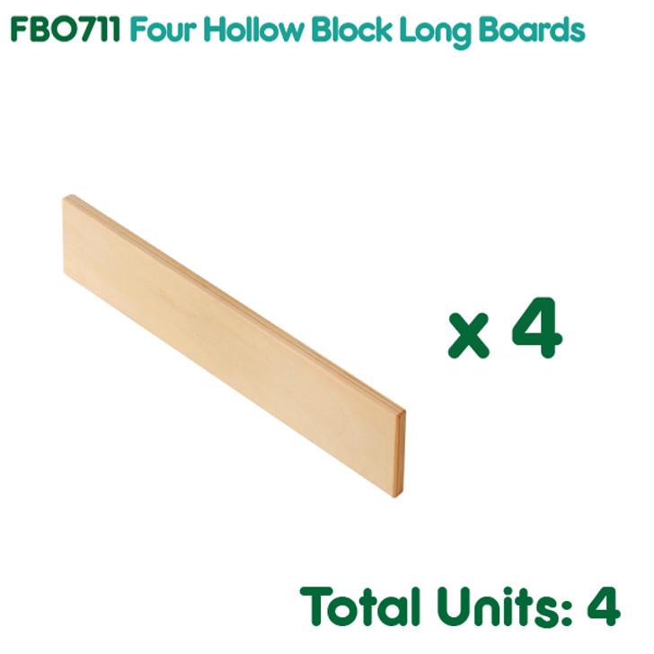 Four Hollow Block Long Boards