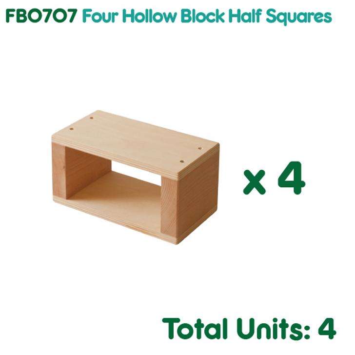 Four Hollow Block Half Squares