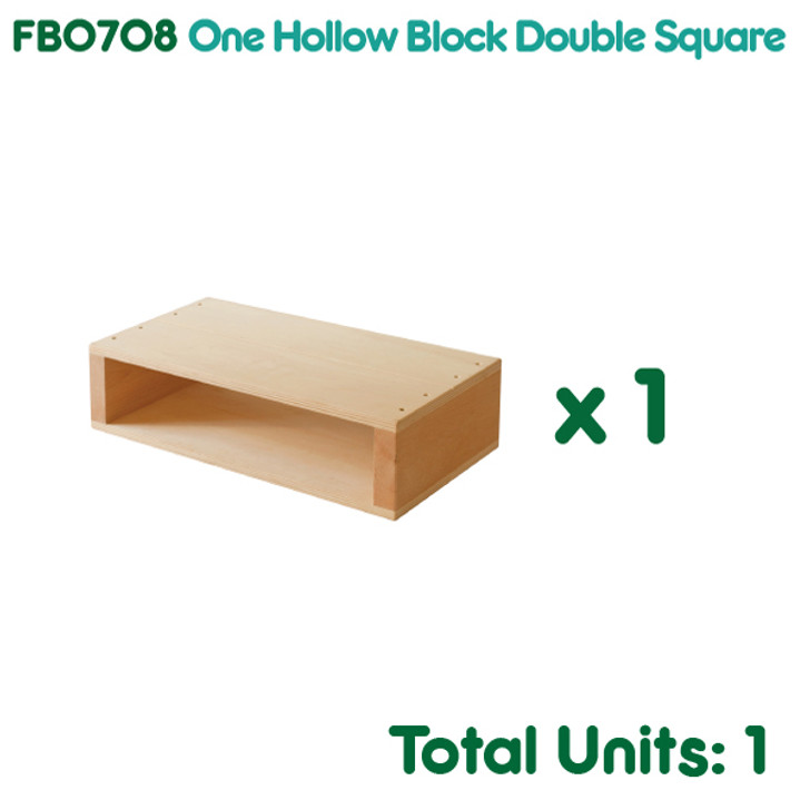 One Hollow Block Double Square