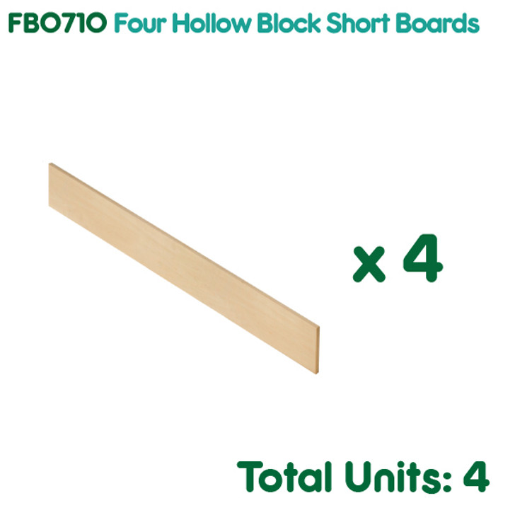 Four Hollow Block Short Boards