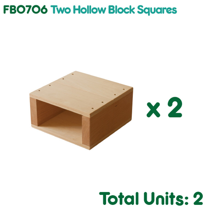 Two Hollow Block Squares