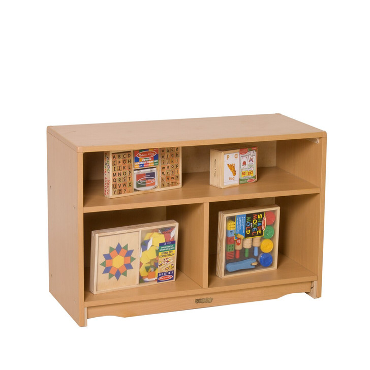 """Closed Back Shelf 3' x 24""""with two  Shelves"""