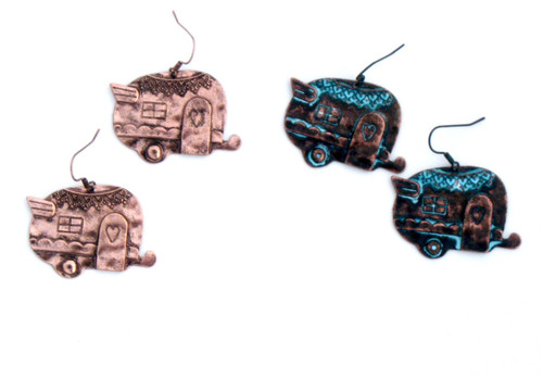 Bronze Camper Earring
