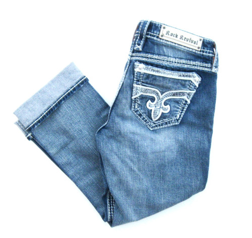 Rock Revival Addie Easy Capri Jean