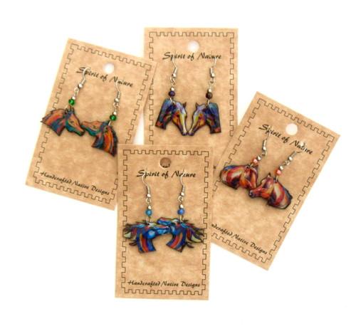 Colorful Horse Head Earrings