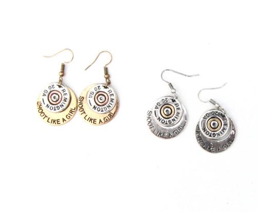 Silver and gold shoot like a girl earring