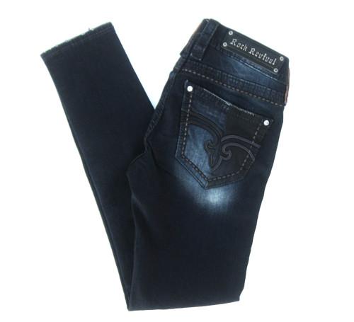 Rock Revival Yasley Dark Denim Skinny Jean