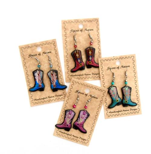 Colorful Cowboy Boot Earrings