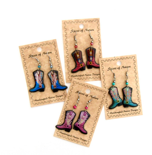 Colorful Cowboy Boot Earrings